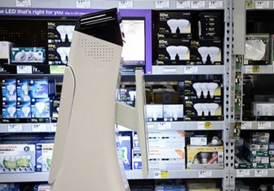 Image of robot in action in retail store