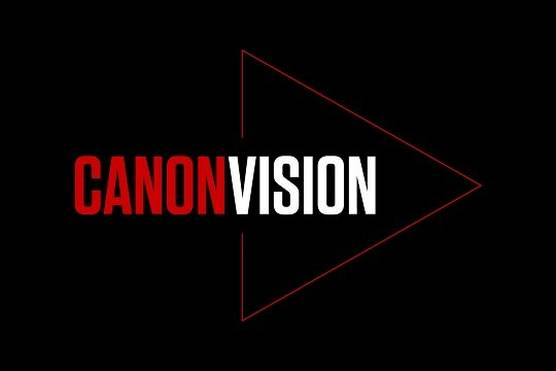 The red and white Canon Vision logo on a black background.