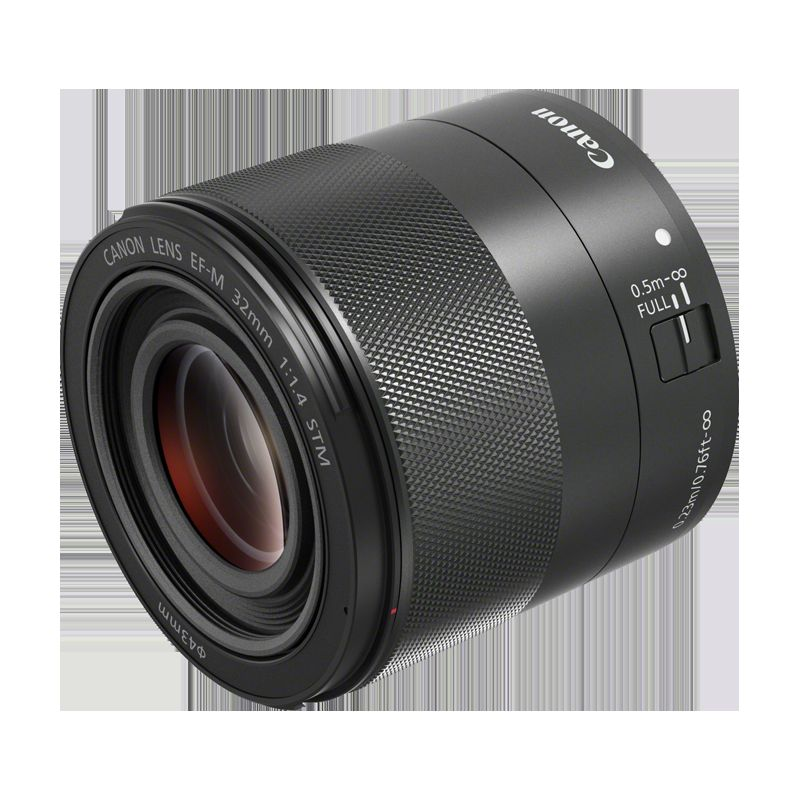 Canon EF-M 32mm f/1.4 STM side profile