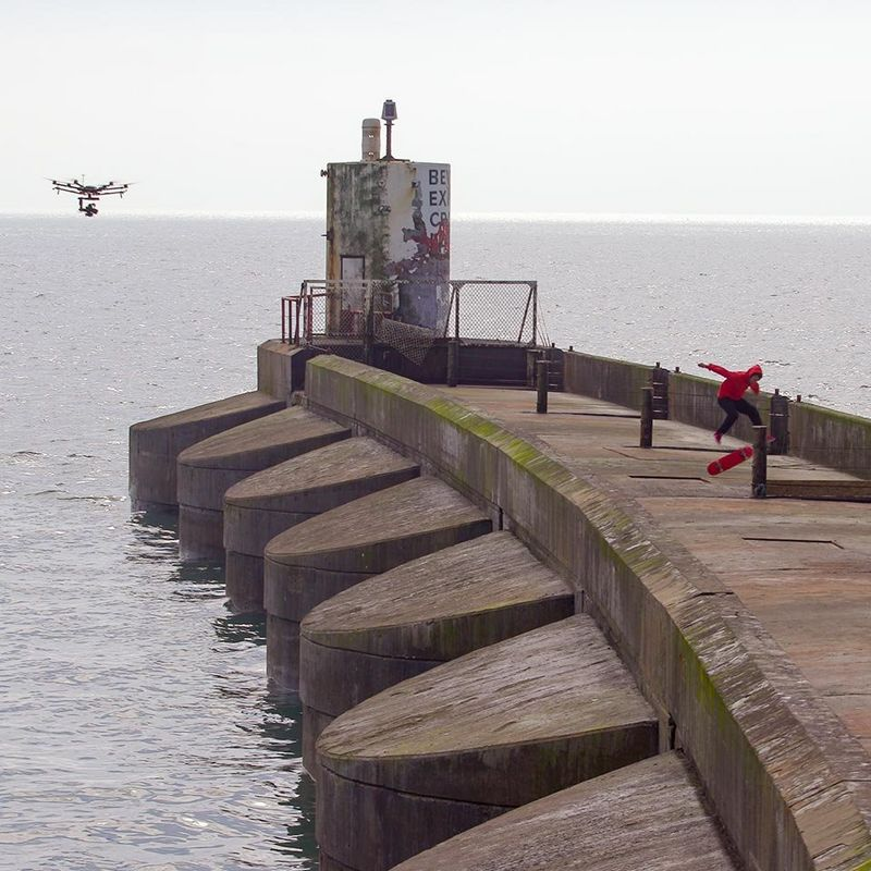 Image of a drone making avideo
