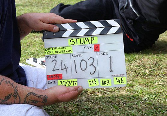 Behind the scenes on short film Stump