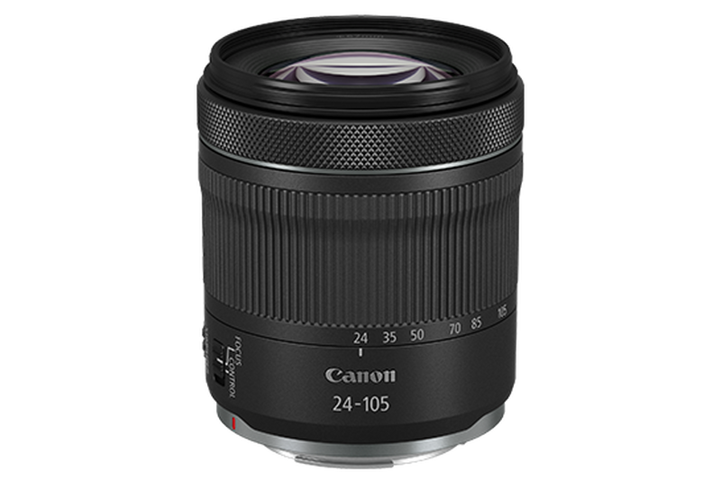 RF 24-105mm F4-7.1 IS STM packshot where you can see the glass