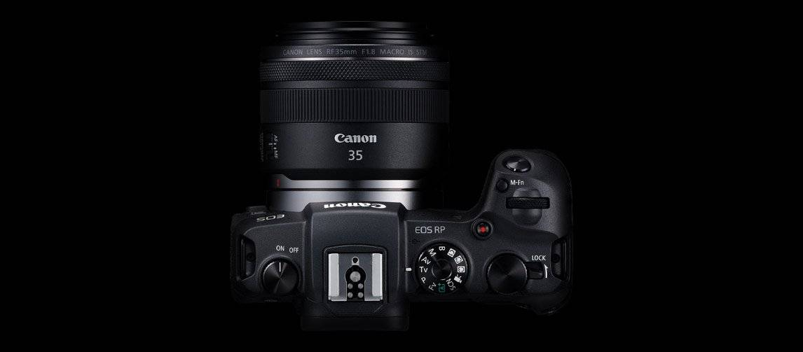 Canon 正规的足球竞彩app推荐P with RF 35mm top view