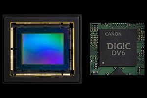 Sensor CMOS de tipo 1.0 e DIGIC DV6