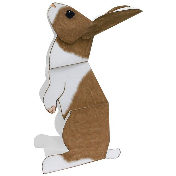 A papercraft bunny rabbit.