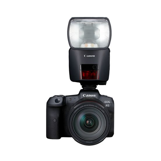 EL-1 packshot front view on EOS R5 hot shoe