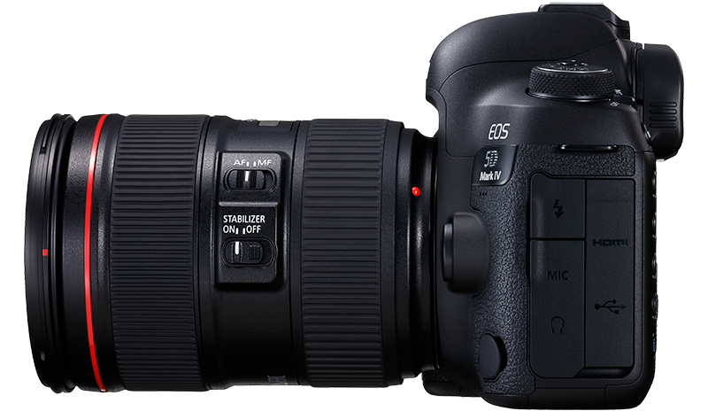 The EOS 5D Mark IV side view from left