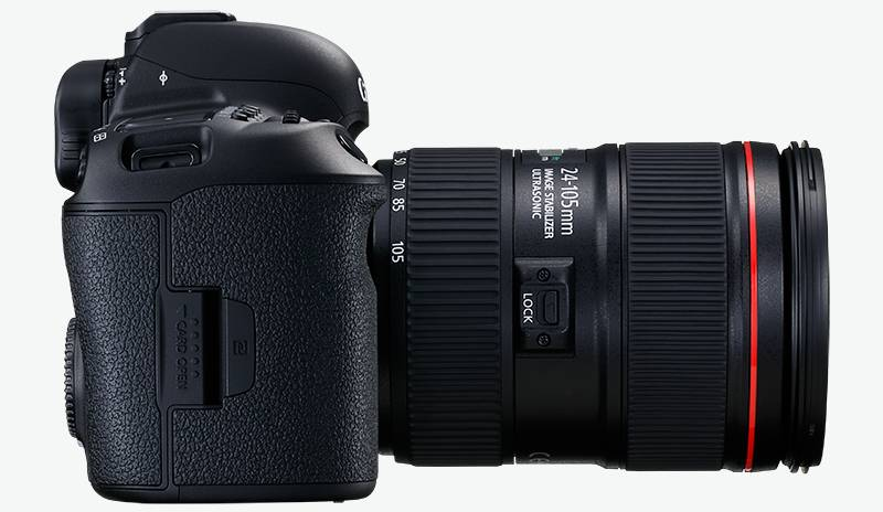 Side view of the Canon 5D Mark IV