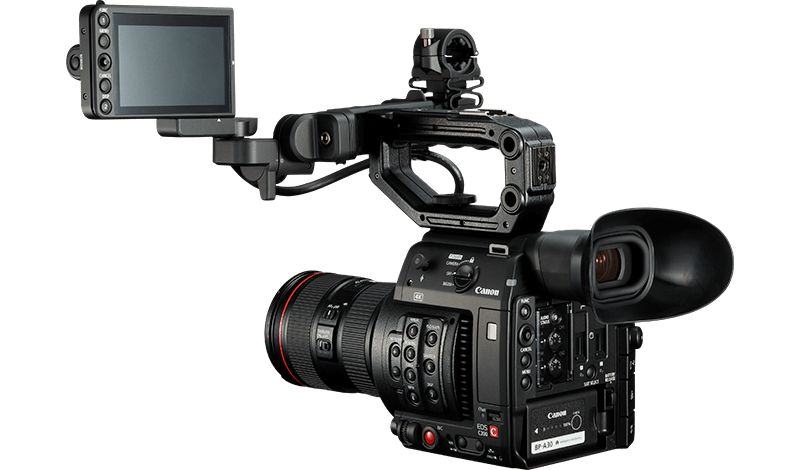 Canon C200 video camera back view