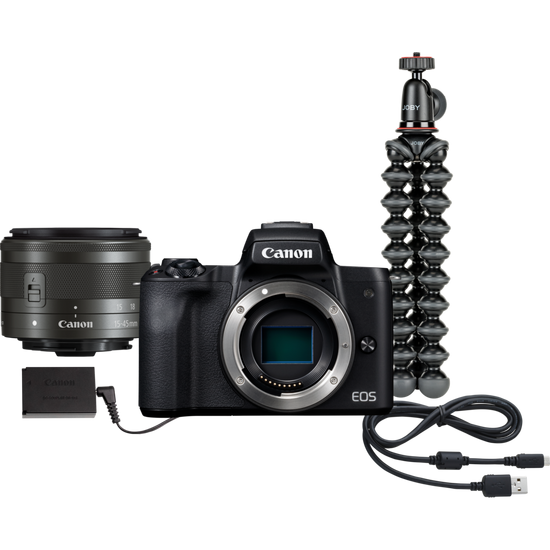 Canon EOS M50 Interchangeable Lens Video Conferencing Kit