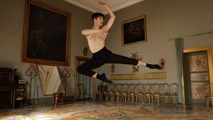 Man in a ballet dance pose