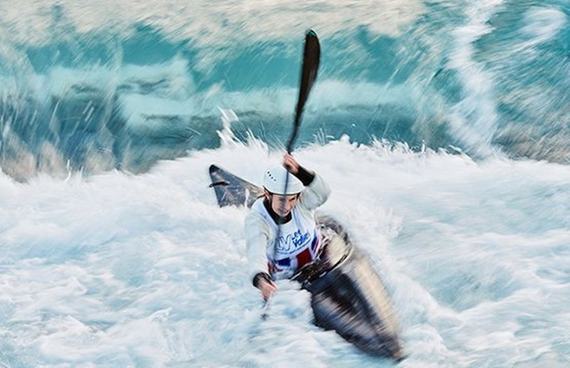 kayaker in water