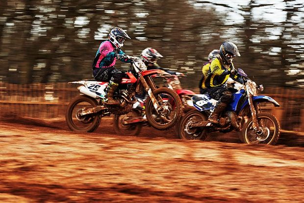 dirtbikes racing together