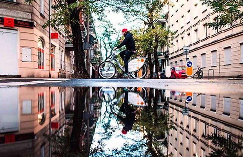 bike riding through city