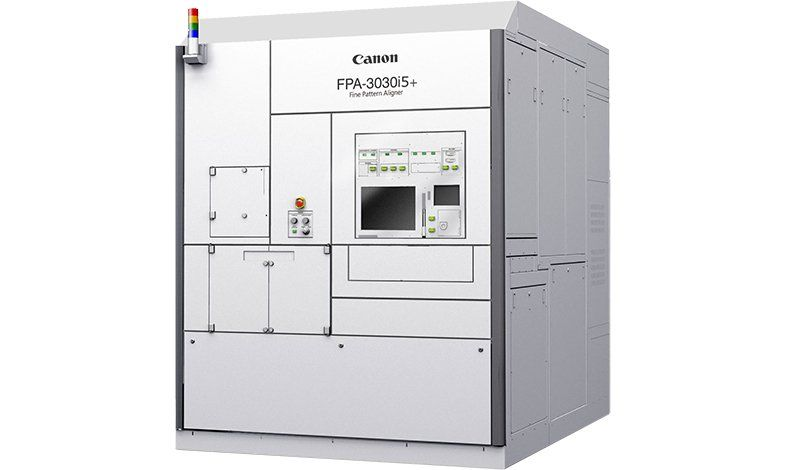 Full view of i-Line lithography machine Canon FPA-3030i5+