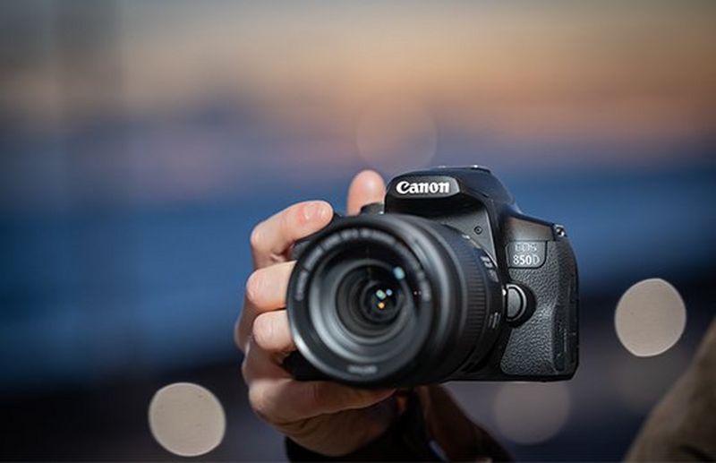 A Canon EOS 850D camera.