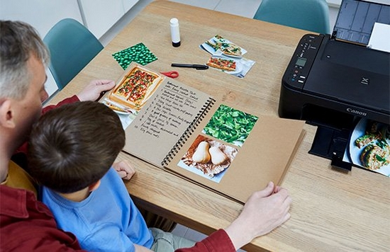 Shoot and print your own recipe book