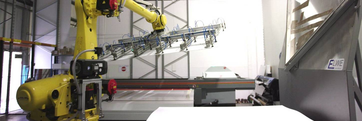 Robotised print solution at Elwe