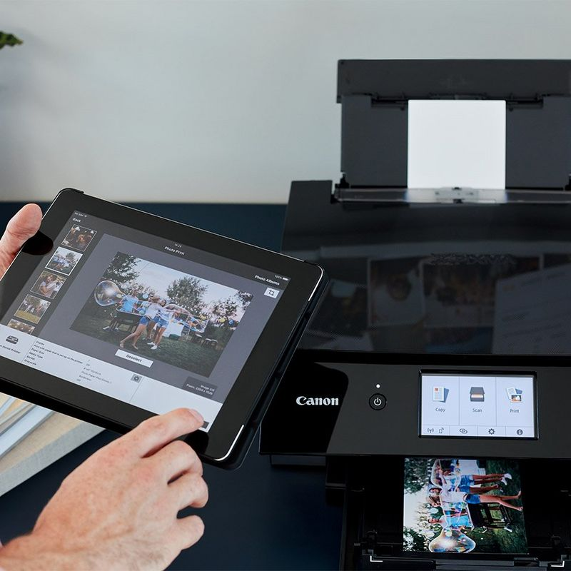 Printing via tablet on the Canon PIXMA TS8250