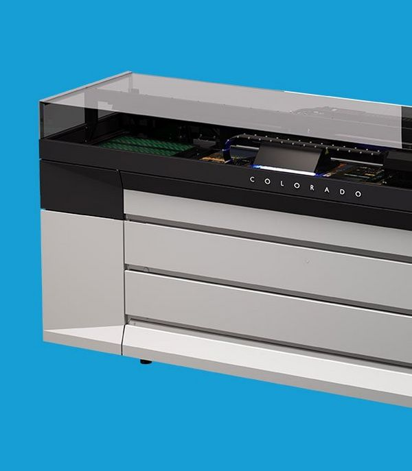 The first production printer to feature Canon's unique UVgel technology
