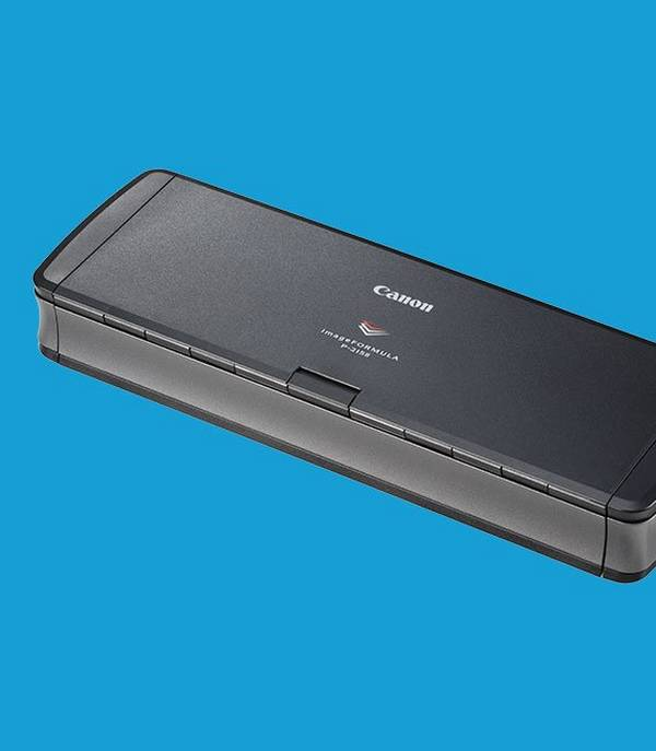 Canon imageFORMULA scanners are ultra-compact and portable