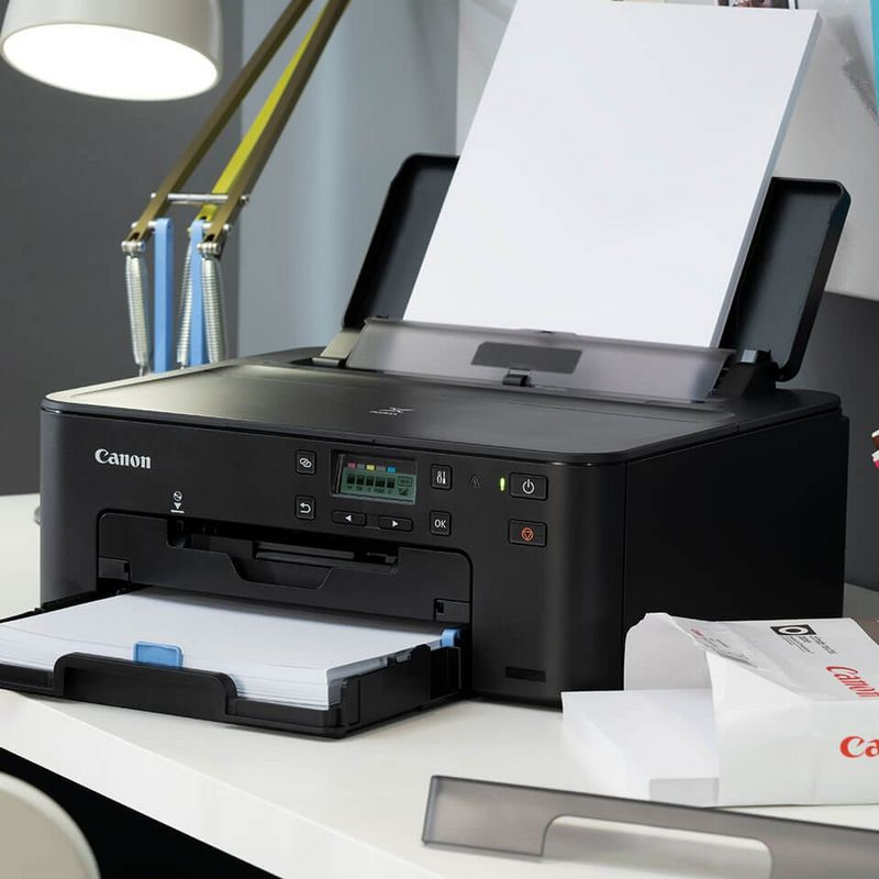 Canon PIXMA Black Printer on desk