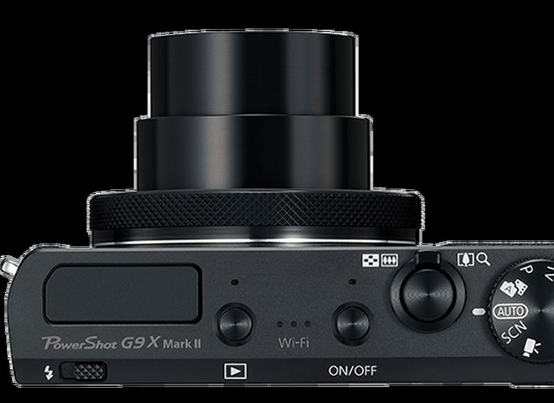 PowerShot G9-X Mark II Top lens Out