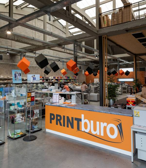 printburo office space and sign