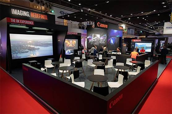 The Canon stand at ISE 2020.