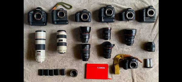 Canon Ambassador Antonio Gibotta's photography kit.