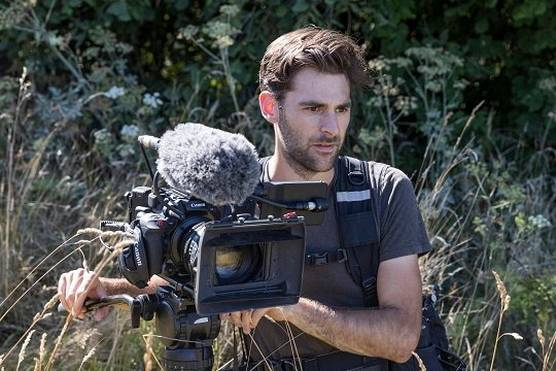 Filmmaker Ben Sherlock with the Canon EOS C500 Mark II.