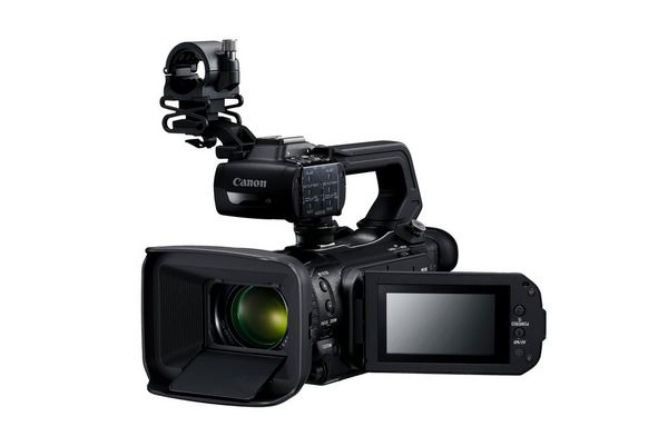 The Canon XA55 professional camcorder.