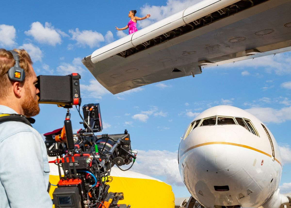 Cinematographer Steve Holleran put the camera's new DGO sensor and 16+ stops of dynamic range to the test filming a ballerina in an abandoned 747.