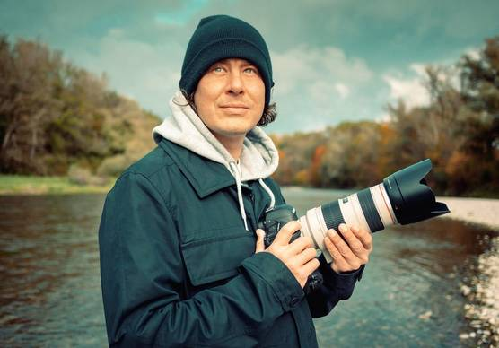 Photographer and Canon Ambassador Lorenz Holder.