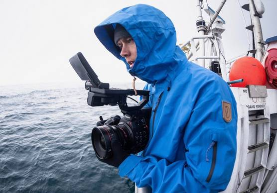 Photographer and Canon Ambassador Valtteri Hirvonen with his Canon camera.