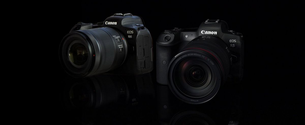 The Canon EOS R6  and Canon EOS R5.