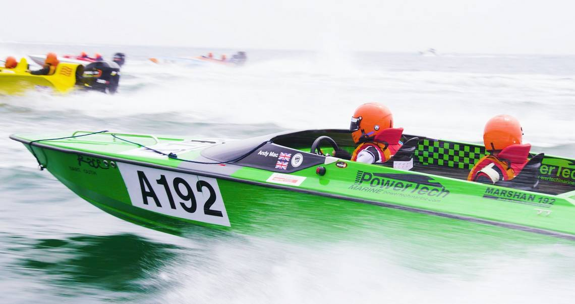 Powerboats race, filmed by Jonathan Constantinou.
