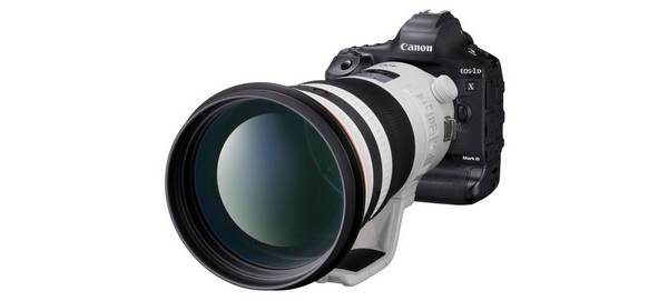Close-up of a Canon EOS-1D X Mark III.
