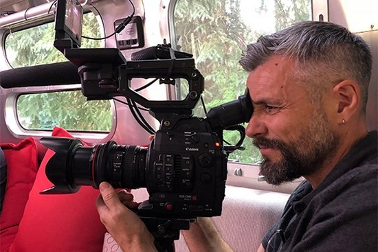Lance DoP Nick Higgins films inside a bus using a Canon EOS C300 Mark II.