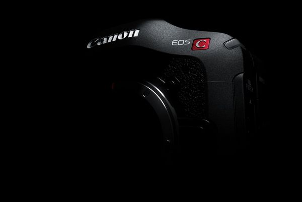A teaser shot of a new Canon cinema camera.