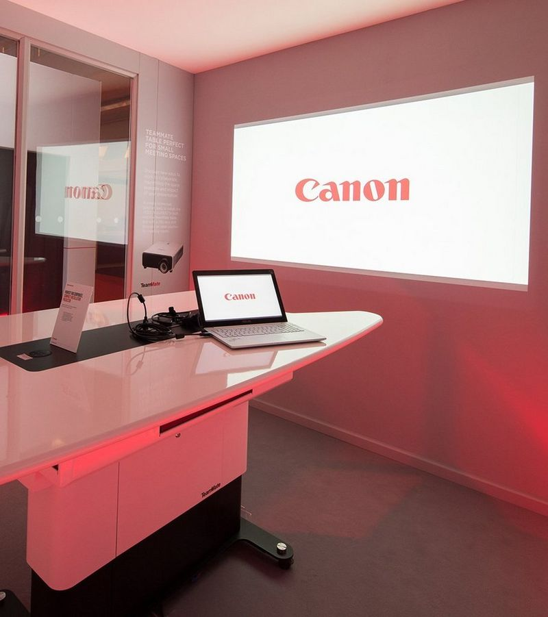 projection of canon logo