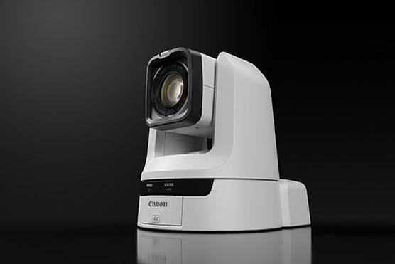 The Canon CR-N300 pan-tilt-zoom camera.
