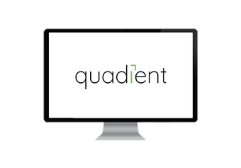 Quadient logo on desktop