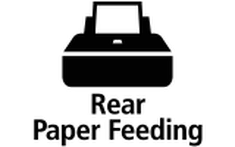 Rear paper feeding