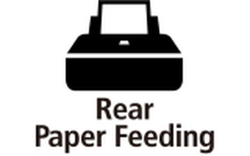 Rear paper feed