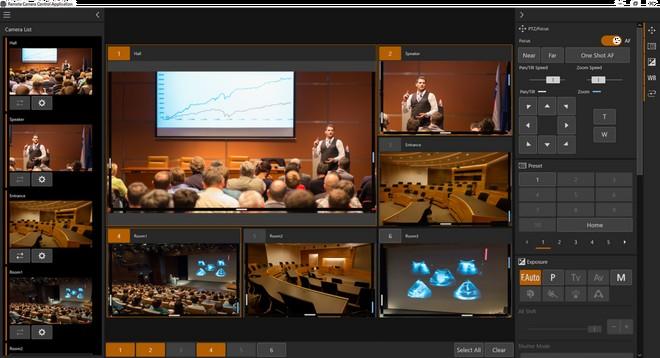 Une capture d'écran de l'application de contrôle de caméra à distance.