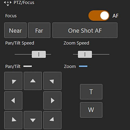Canon Remote Camera Control Application, Interface