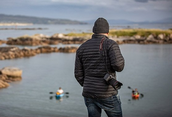 Richard Walch on the Irish coast with Canon EOS R and RF 24-105mm F4L IS USM