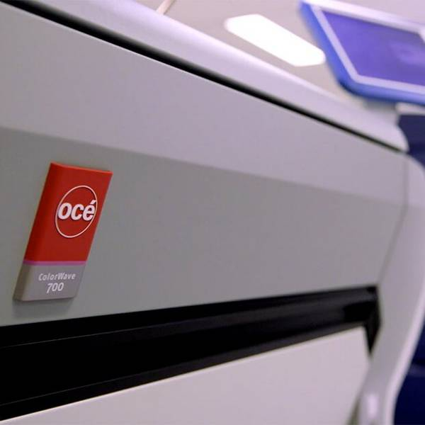 The Océ ColorWave 700, a fast and highly versatile graphic arts printer.