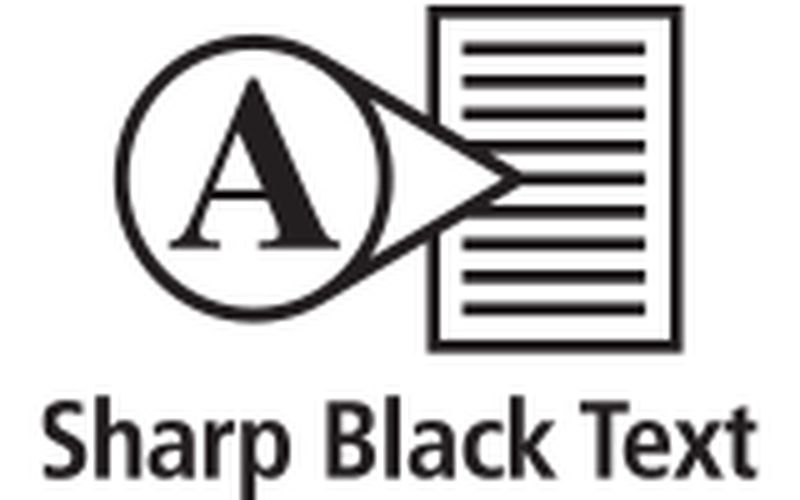 sharp-black-text